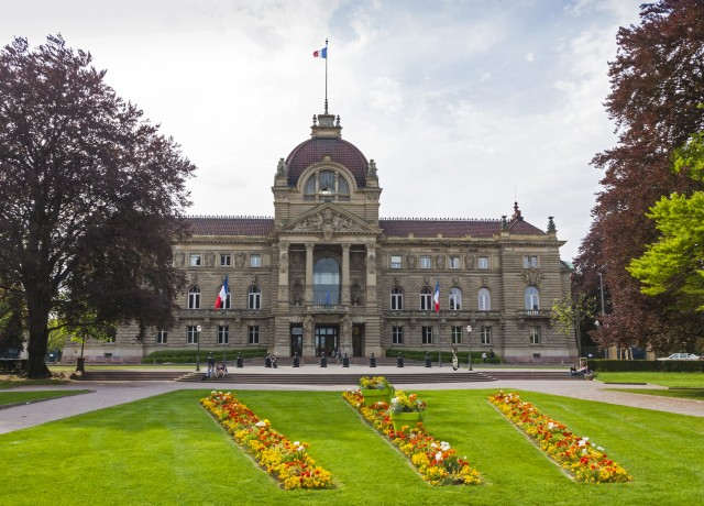 Building of Palace of the Rhine (Palais du Rhin) in Strasbourg, France